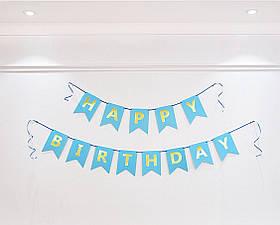 "Гирлянда ""Happy Birthday"" голубая.Длинна 3 м."