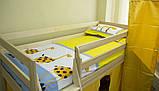 """Односпальне ліжко """"Вежа"""" з дерева (масив бука), фото 3"""