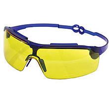 Очки защитные Драйвер жёлтые (поворотные удлинённые дужки, линза ПК, не потеющая, антицарапина)   VTR (Украина) ZO-0035
