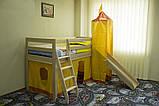 """Односпальне ліжко """"Вежа"""" з дерева (масив бука), фото 2"""
