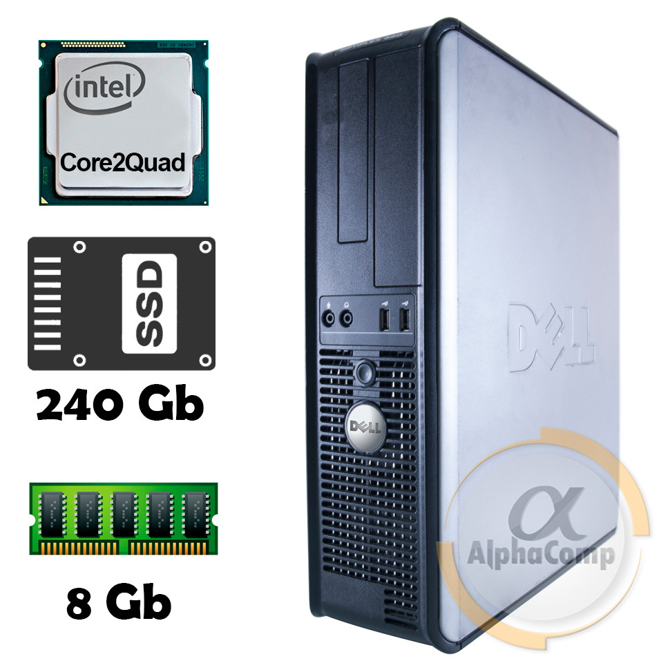 Компьютер Dell 380 (Core2Quad Q9300/8Gb/ssd 240Gb) БУ