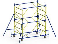 Передвижная строительная вышка-тура 1,6х0,8 м высота 6,2 м