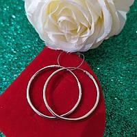 Серьги-кольца серебряные 925 пробы