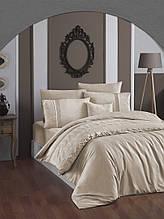 Комплект постельного белья сатин Moonlight First choice евро размер Stella sutlu kahve