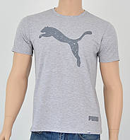 Мужская футболка Puma(реплика) Св.серый+серый, фото 1
