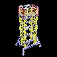 Передвижная строительная вышка-тура 1,7х0,8 м высота 6,2 м