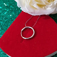 Серьга-кольцо серебряная 925 пробы