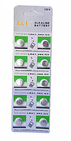 Алкалінова батарейка-таблетка T&E LR41 / 392 / G3 1.55 V