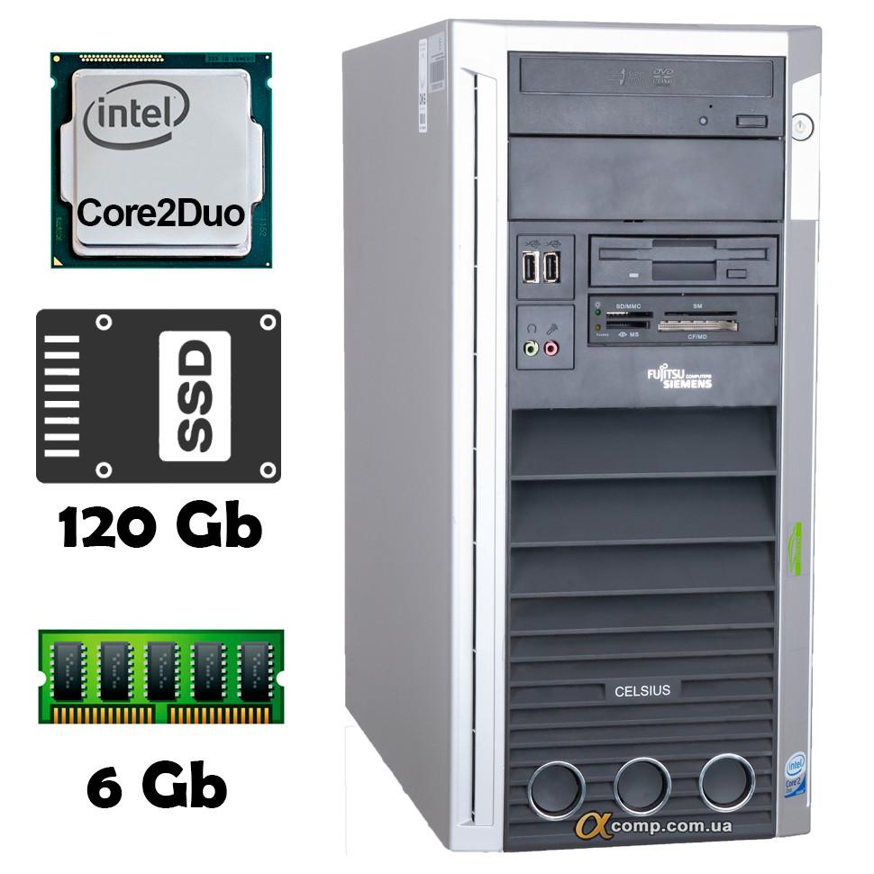 Компьютер Fujitsu W360 (Core2Duo E8200/6Gb/ssd 120Gb) БУ