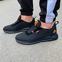 Черные кроссовки в стиле Reebok мужские, фото 1