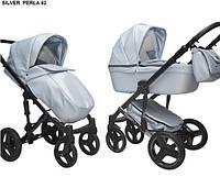Детская универсальная коляска 2в1 Mikrus Hugo Silver 42 (Жемчужный)