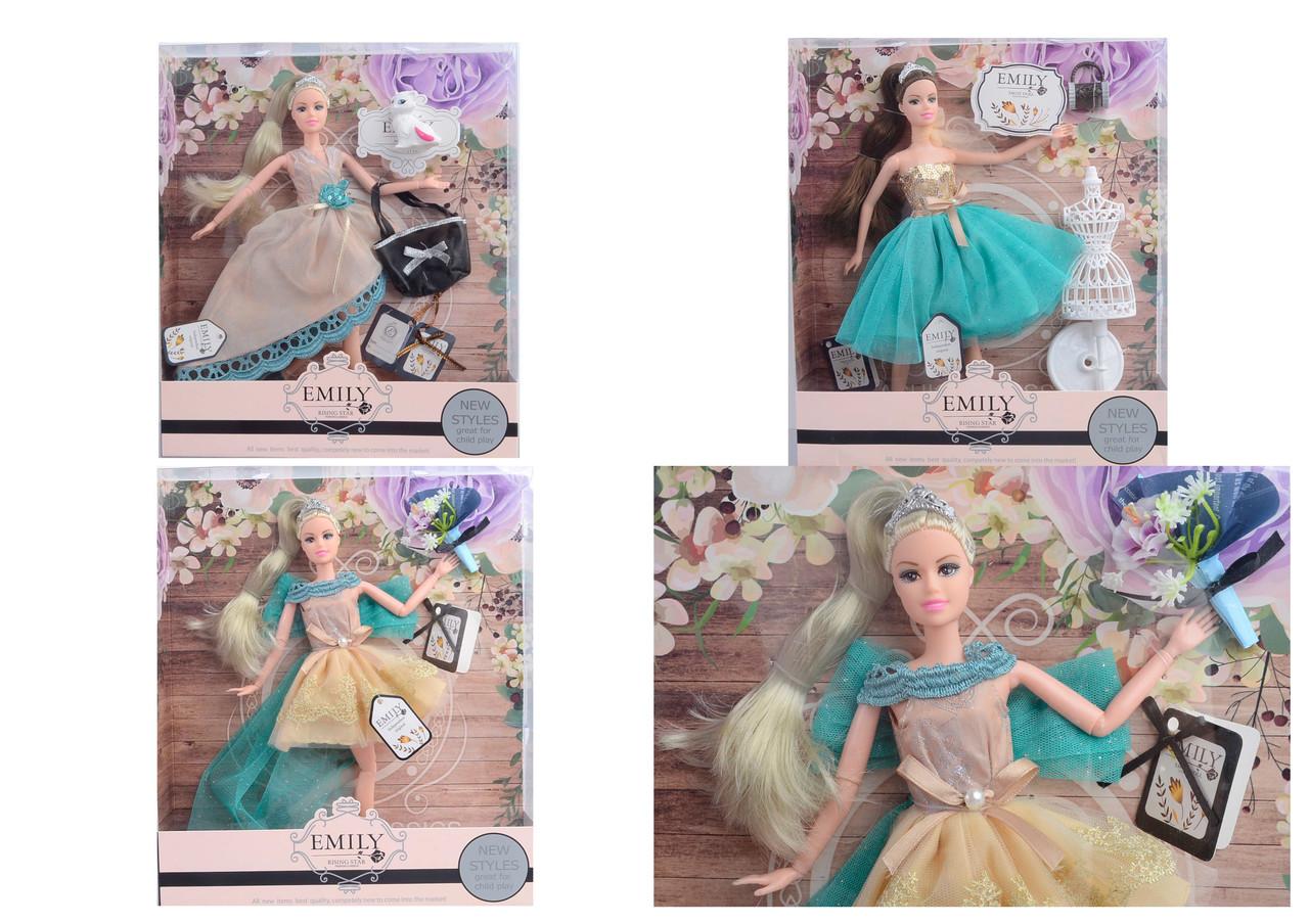 Лялька, 2 види, з сумочкою і аксесуарами, QJ079B/QJ079
