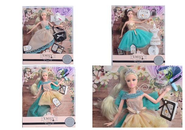 Лялька, 2 види, з сумочкою і аксесуарами, QJ079B/QJ079, фото 2
