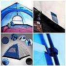 Палатка KingCamp Family 3 (KT3073) трехместная, фото 5