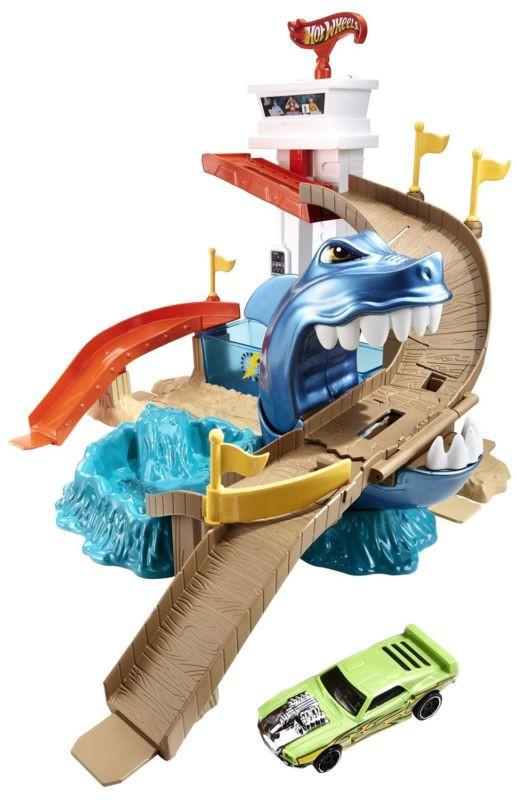Трек Хот Вілс Атака Акули, Hot Wheels Color Shіfters Sharkport Showdown Trackset.