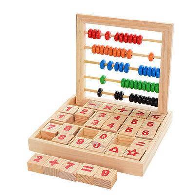"""Дерев'яна іграшка """"Набір першокласника"""", цифри, рахунки, MD1166, фото 2"""