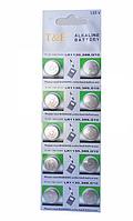 Алкалінова батарейка-таблетка T&E LR1130 / 389 / G10 1.55 V