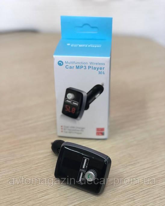 """Модулятор Bluetooth """"M4"""" Black разьем под SD/MMC/2xUSB/1xAUX"""