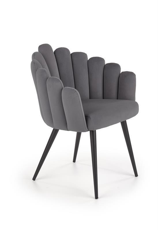 Крісло K410 сірий оксамит (Halmar)