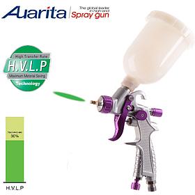 Краскопульт пневматичний тип HVLP верхній пластиковий бачок, діаметр форсунки-0,8 мм AUARITA H-891-0.8