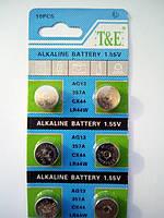 Алкалінова батарейка-таблетка T&E LR44 / 357 / AG13 1.55 V