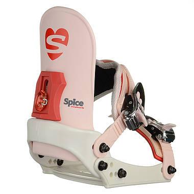 Кріплення для сноуборду дитяче Spice Snowboards S/M White, фото 3