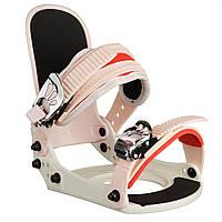 Кріплення для сноуборду дитяче Spice Snowboards S/M White