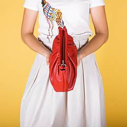 Кожаная сумка-клатч красного цвета. Цвет любой под заказ.