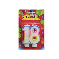 Свеча-цифра для торта двойная 18