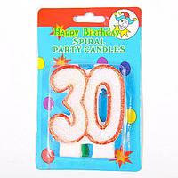 Свеча-цифра для торта двойная 30