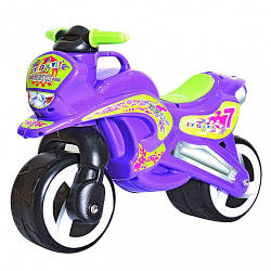 Беговел детский мото-байк Kinderway 11-006 фиолетовыйпластик