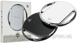 Беспроводное ЗУ Fast Charger 002 хром-кольцо (черный)