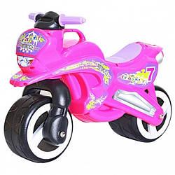 Беговел детский мото-байк Kinderway 11-006 розовыйпластик