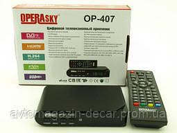 Приставка цифровая  DVB-T2 OP-407 220V HDMI 1-USB выход боковой