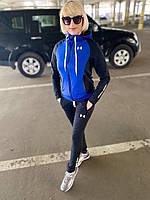 Женский синий весенний спортивный костюм с капюшоном Under Armour.Турция.