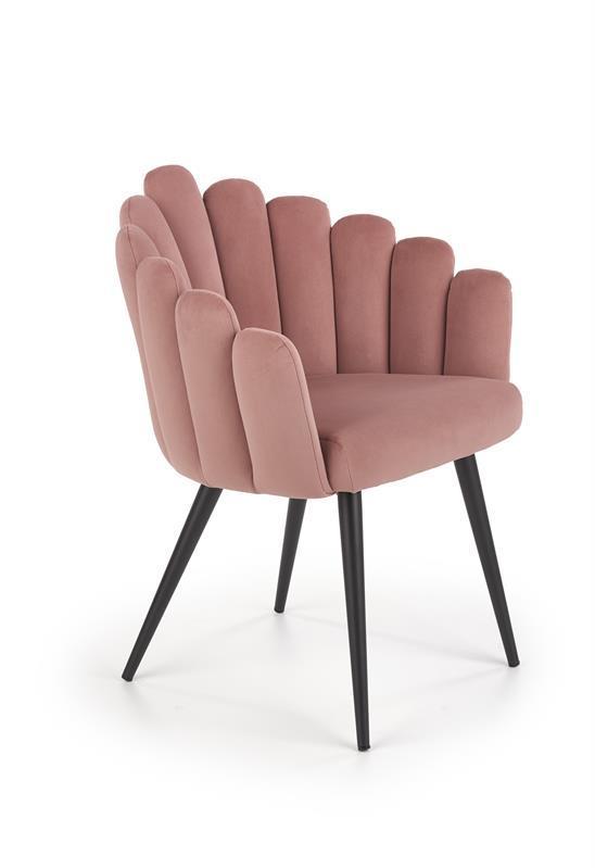 Кресло K410 розовый  бархат  (Halmar)