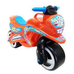 Беговел детский мото-байк Kinderway 11-006 оранжевыйпластик