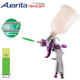 Краскопульт пневматичний тип HVLP верхній пластиковий бачок, діаметр форсунки-1,0 мм AUARITA H-891-1.0
