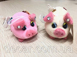 "Игрушка на присоске  ""Свинка-со стразами"" 7см №8"