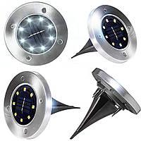 Комплект 4 шт. - Универсальный светильник на солнечной батарее Solar Disk Lights
