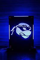 Декоративный ночник Ниндзя-черепашка, теневой светильник, несколько подсветок (батарейка+220В)