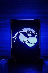 Декоративный настольный ночник Ниндзя-черепашка, теневой светильник, несколько подсветок (батарейка+220В)