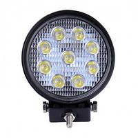 Фара-LED  Круг  27W (3W*9) 10-30V  Ø 112*125mm  Дальний/Spot (001 B 27W) (1шт) - плоская   3376