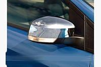 Накладки на зеркала (2 шт, пласт.) Ford Focus II 2008-2011 \ Ford Focus III 2011-2017 \ Ford Mondeo 2008-2013
