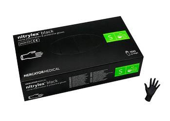 Рукавички нітрилові 100шт. S чорні NITRYLEX BLACK