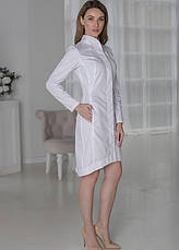 Женский медицинский халат Алина - Жіночий медичний халат Аліна - Халат для косметолога, фото 3