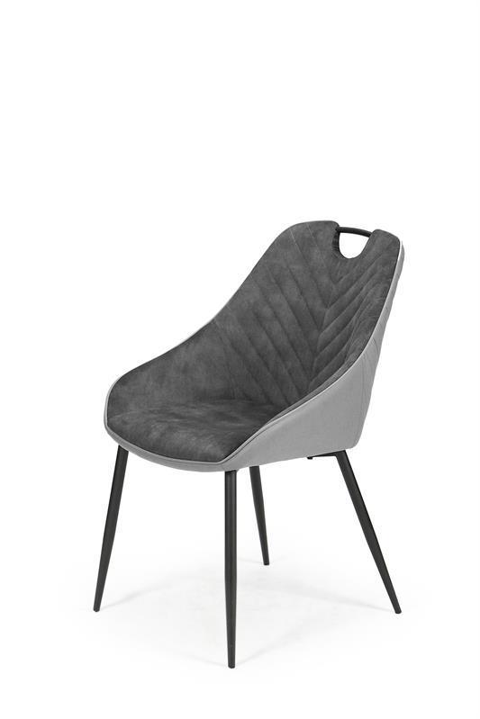 Кресло K412 темно серый/светло серый (Halmar)