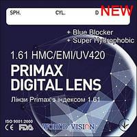 Суперпрочные, утонченные линзы Primax Blue Blocker.  Индекс 1,57. Есть астигматика. World Vision., фото 1