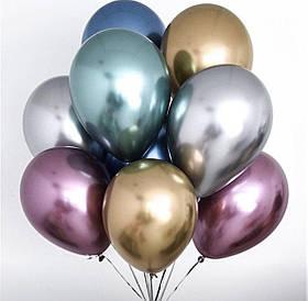 """Воздушные шары латексные """"Хром ассорти"""" 12'(30см.) 50 шт. в упаковке"""