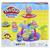"Игровой набор пластилина Плей-До HASBRO ""Башня из кексов""Оригинал Play-Doh Sweet Shoppe Cupcake Tower"